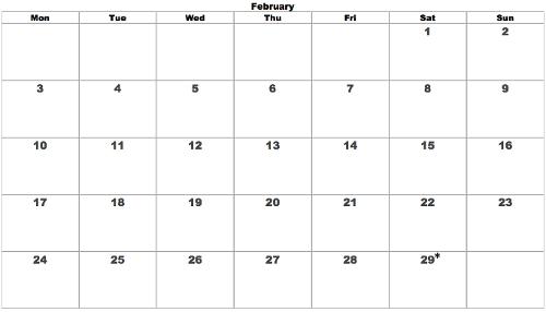 Saturday Leap February