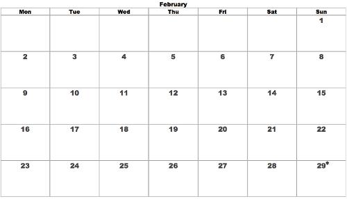 Sunday Leap February