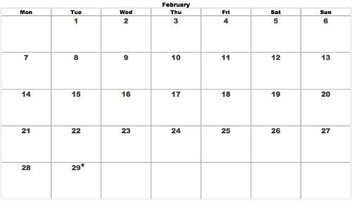 Tuesday Leap February